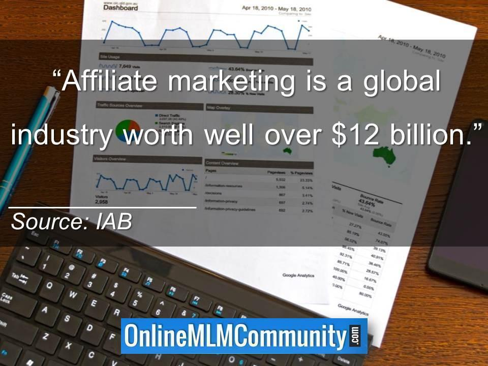 Affiliate marketing is a global industry worth well over 12B