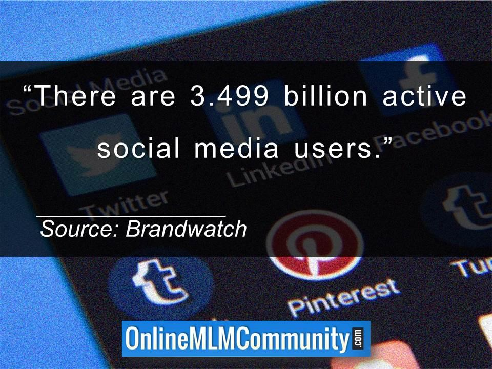 There are 3.499 billion active social media users