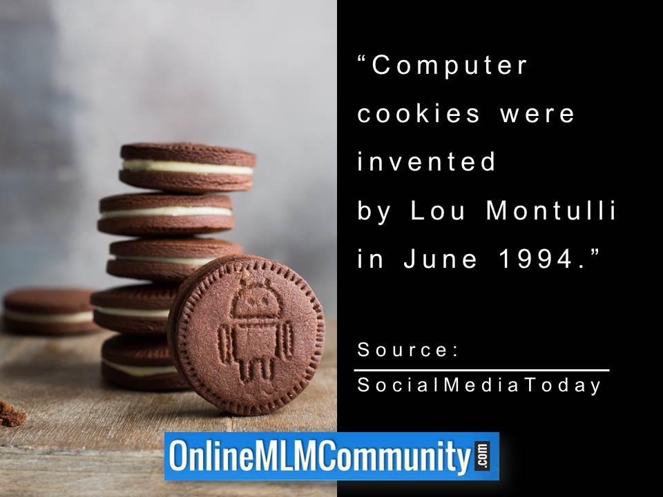 Computer cookies were invented by Lou Montulli in June 1994