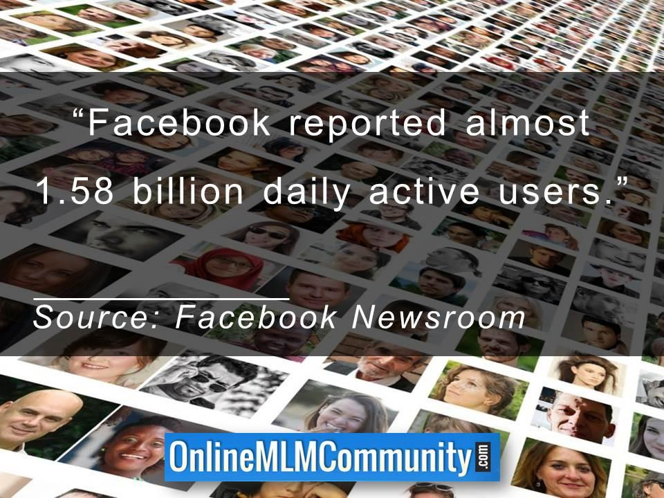 Facebook reported almost 1.58 billion daily active users