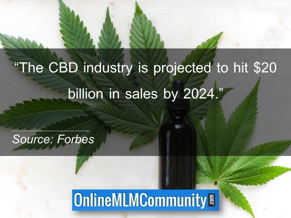 The CBD industry is projected to hit $20 billion in sales by 2024