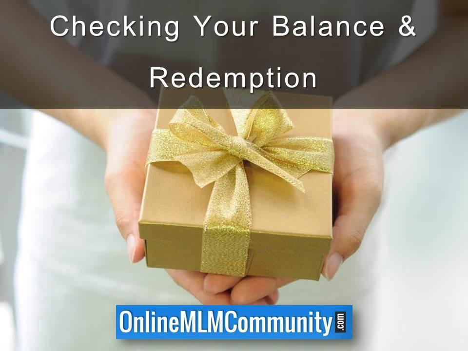 Checking Your Balance & Redemption