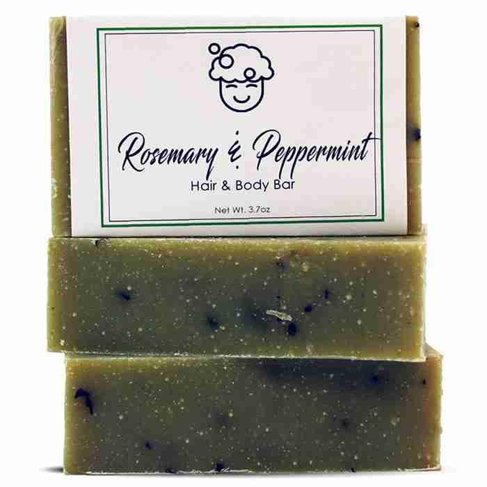 Rosemary & Peppermint Hair & Body Bar