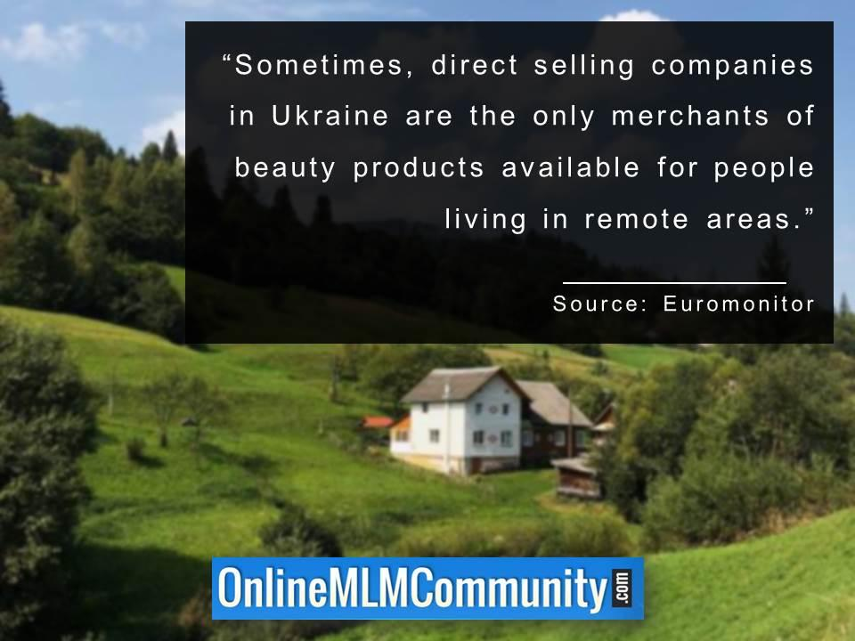 direct selling companies in Ukraine are the only merchants of beauty products available for people living in remote areas