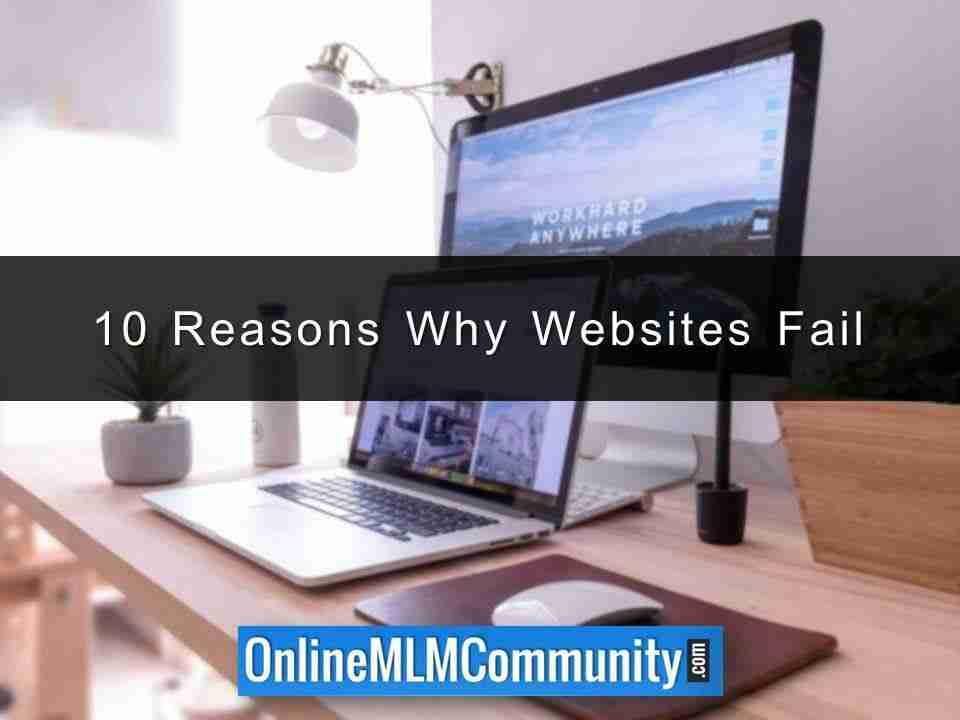 10 Reasons Why Websites Fail