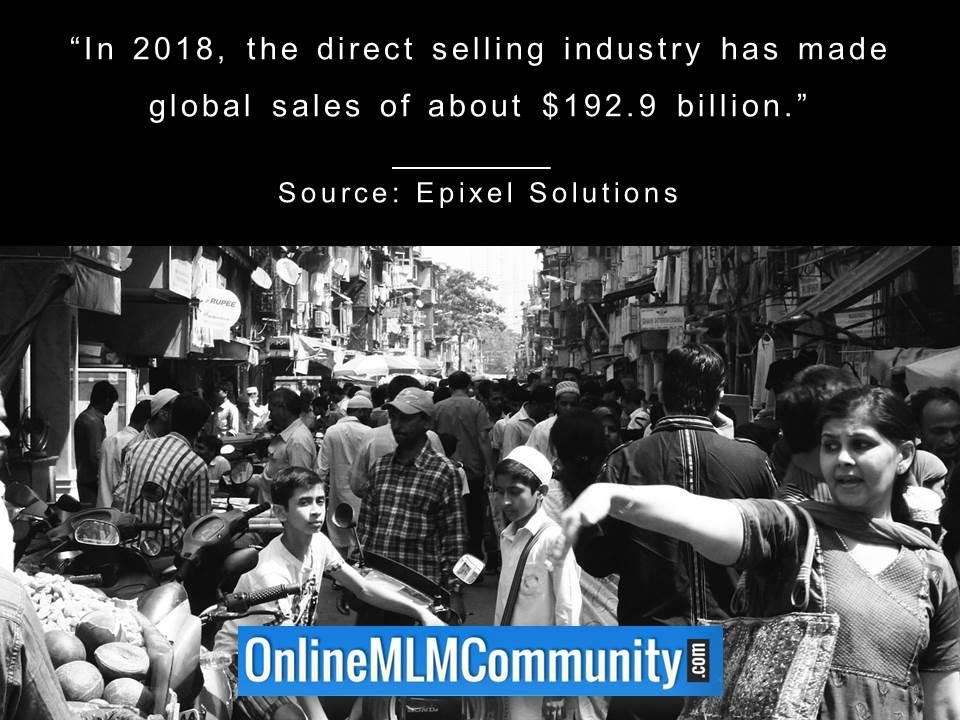 the direct selling industry has made global sales of about 192 billion USD