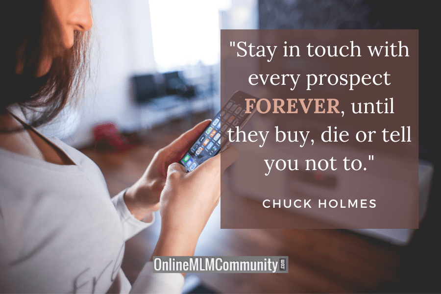 stay in touch with your prospects