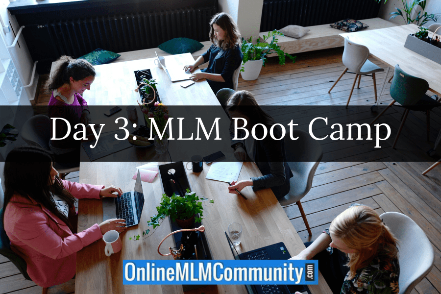 Day 3: MLM Boot Camp