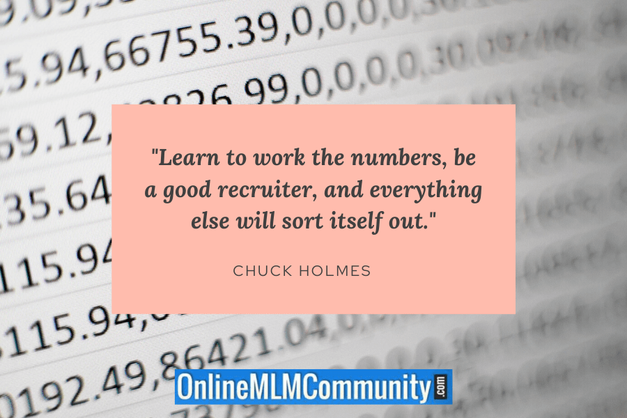 work the numbers in mlm