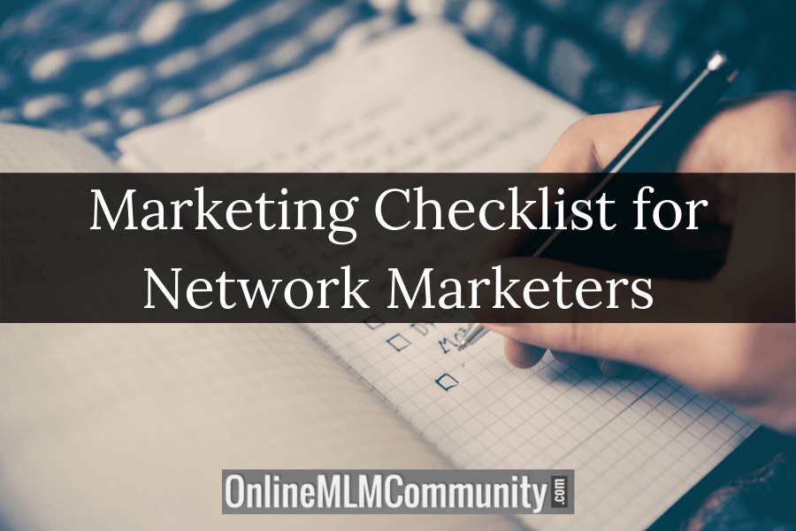 Marketing Checklist for Network Marketers