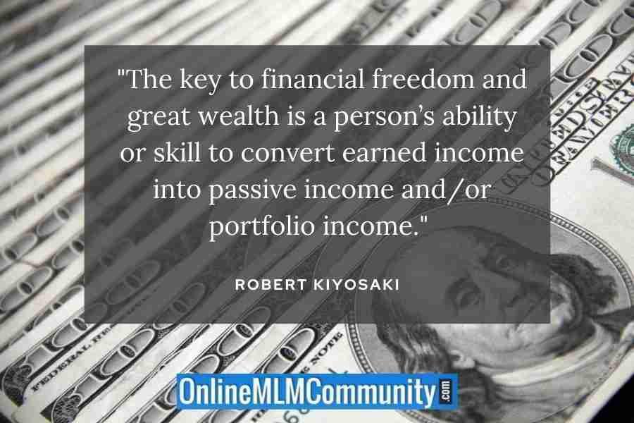 robert kiyosaki passive income