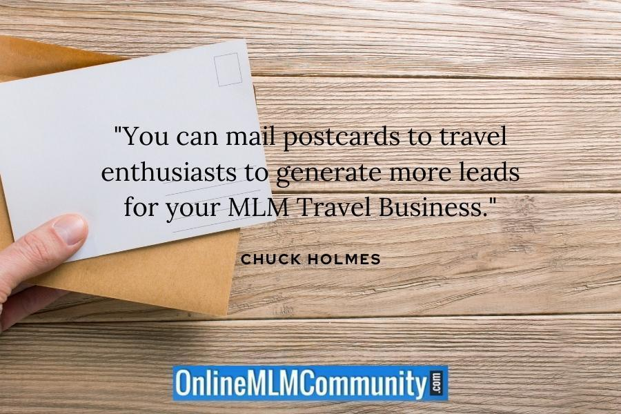 travel leads with postcards