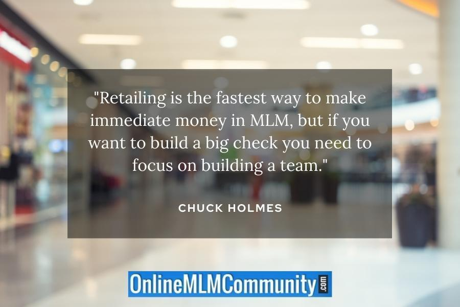 retail to make fast money in mlm