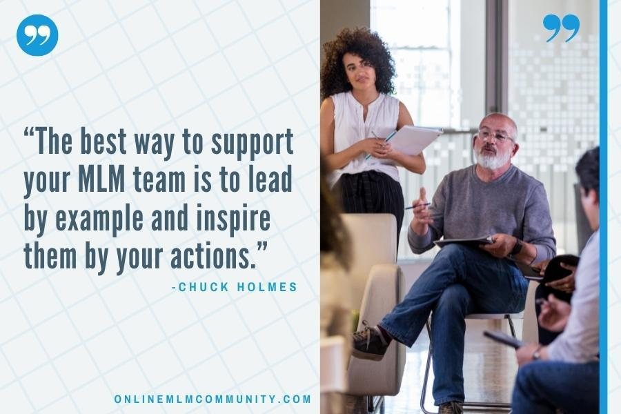 best way to support your mlm team