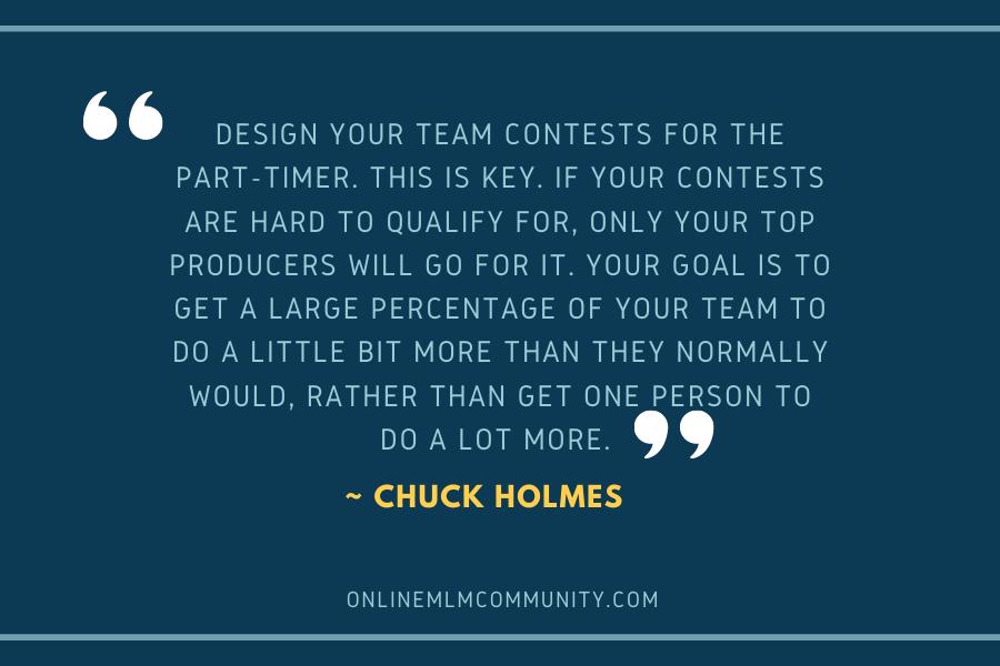 mlm team contests