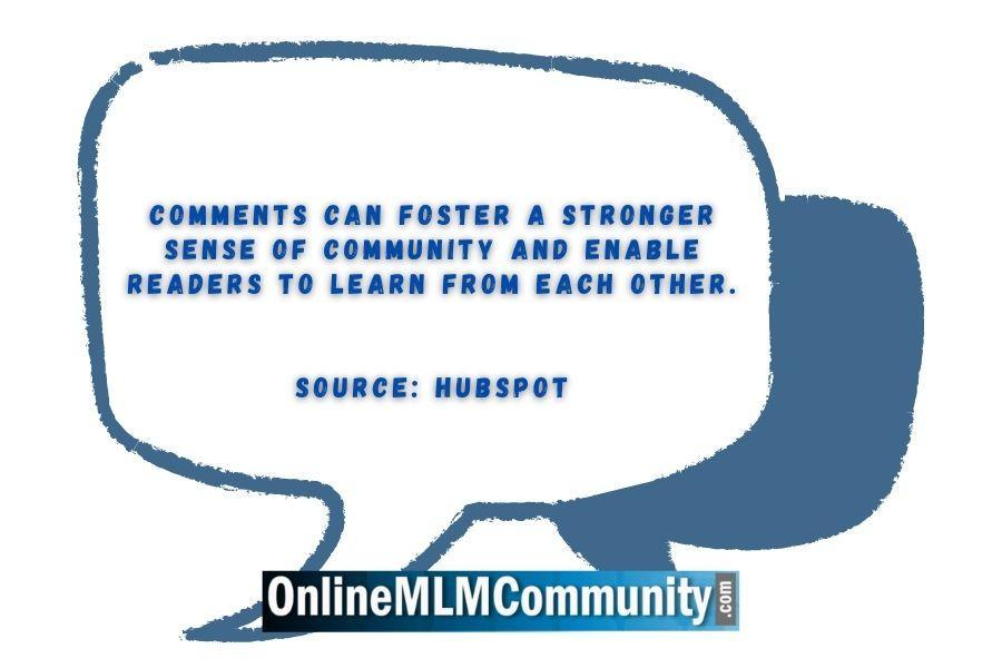 Comments can foster a stronger sense of community